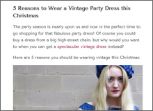 5 Reasons To Wear a Vintage Party Dress This Christmas