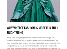 Why Vintage Fashion is More Fun That Frightening
