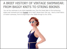 A Brief History of Vintage Swimwear From Baggy Knits to String Bikinis